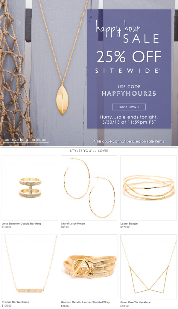 Happy Hour Sale   25% OFF
