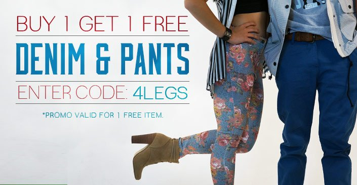Pants & Denim: Buy 1, Get 1 Free