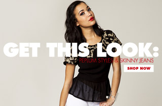 Get This Look: Peplum Styles & Skinny Jeans