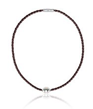 Revolution Leather Brown Necklace