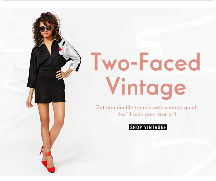 Get into double trouble with vintage goods that'll rock your face off!