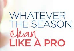 WHATEVER THE SEASON, clean LIKE A PRO