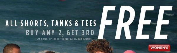 SHOP Women's Shorts, Tanks & Tees SALE!