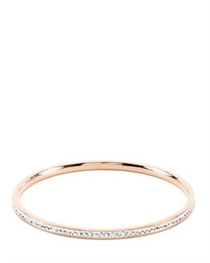 Crystals Embellished Gold Bangle