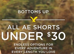 Bottoms Up | All AE Shorts | Under $30 | Endless Options For Every Adventure In Every Length You Love