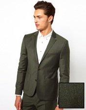 ASOS Slim Fit Suit Jacket in Khaki