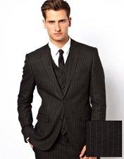 ASOS Skinny Fit Suit Jacket in Pinstripe