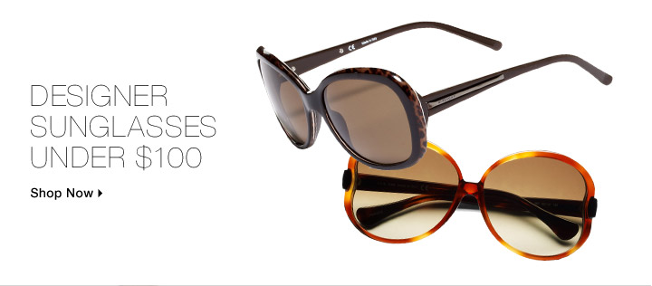 Designer Sunglasses Under $100