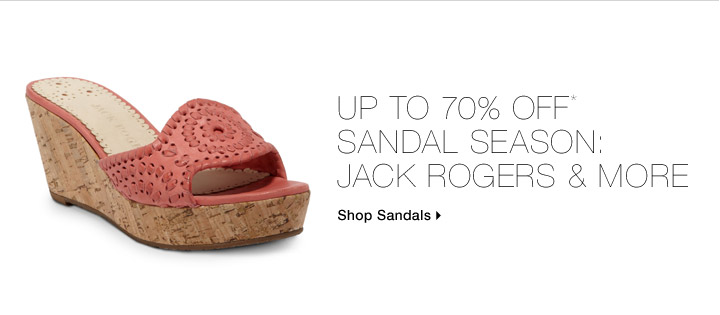 Up to 70% Off* Sandal Season: Jack Rogers & More