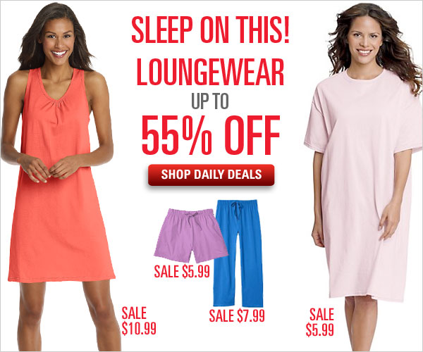 Loungewear up to 55% off