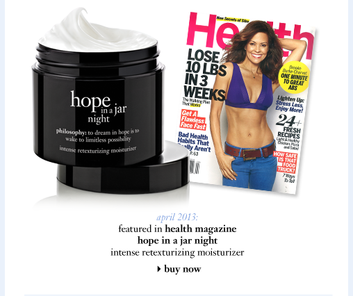 hope night, Health Magazine, April