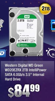 """Western Digital WD Green WD20EZRX 2TB IntelliPower SATA 6.0Gb/s 3.5"""" Internal Hard Drive"""