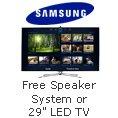 """Samsung - Free Speaker System or 29"""" LED TV."""