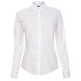White Contrast Cuff Shirt