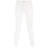 White Cotton Twill Jeans