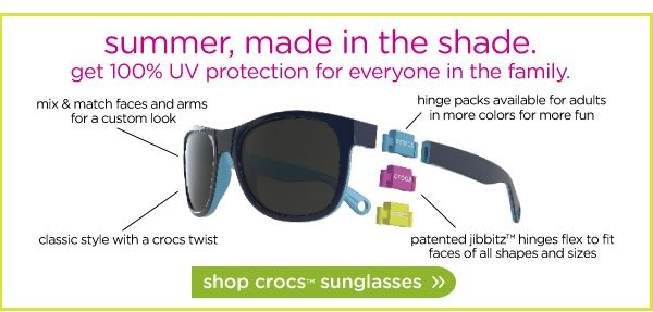 summer, made in the shade. get 100% UV protection for everyone in the family.
