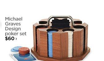Micahel Graves Design poker set $60›