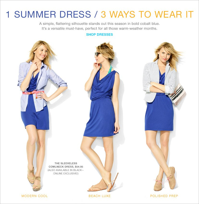 1 SUMMER DRESS / 3 WAYS TO WEAR IT | SHOP DRESSES