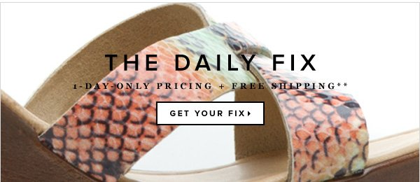 The Daily Fix: 1-Day-Only Pricing + Free Shipping**
