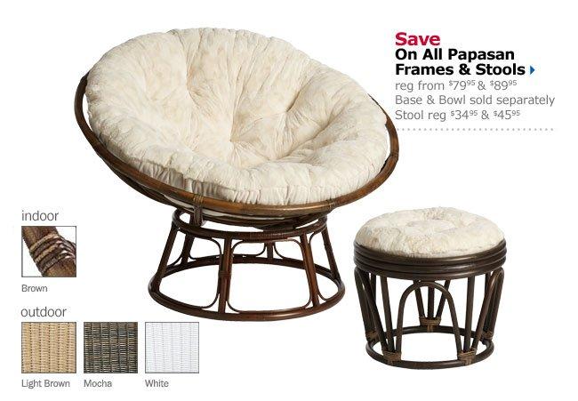 Save On All Papasan Frames & Stools