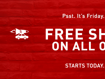 FREE SHIPPING ON ALL ORDERS.*