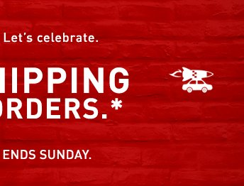 STARTS TODAY. ENDS SUNDAY.