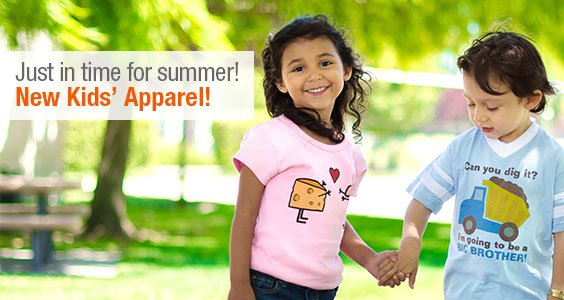 Just in time for summer! New Kids' Apparel!