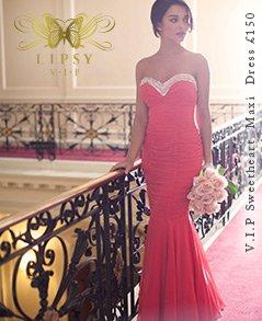 V I P Sweetheart Embellished Ruched Maxi Dress