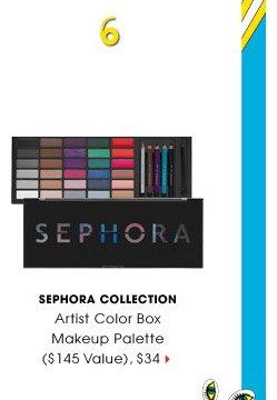 #6 | SEPHORA COLLECTION | Artist Color Box Makeup Palette ($145 Value), $34