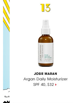 #13 | Josie Maran | Argan Daily Moisturizer SPF 40, $32