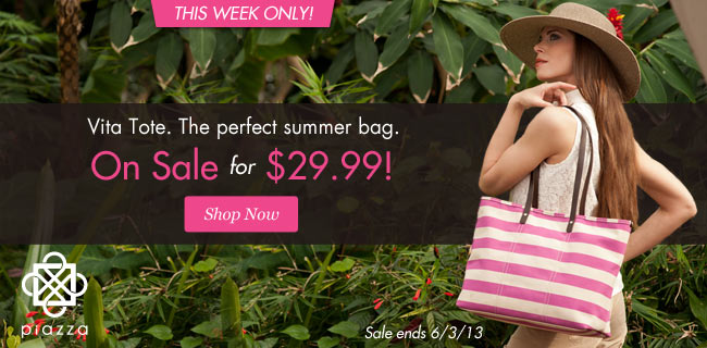 Piazza Vita Tote on sale for $29.99. This week only! Shop Now