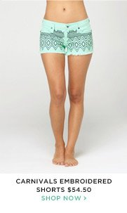 Carnival Embroidered Shorts $54.50 - Shop Now