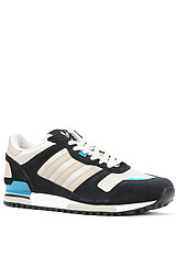 The ZX 700 M Sneaker in Black, Collegiate Silver, & Bliss