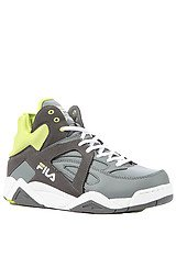 The Cage Sneaker in Grey & Lime