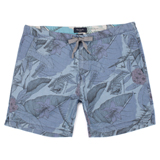Blue Desert Aviator Print Shorts