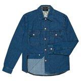 Mid-Wash Denim Shirt Jacket