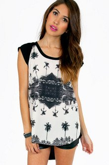 PALM TREES GRAPHIC TOP 26