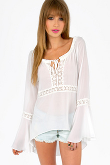 OH MICHELLE LACE TRIM TUNIC 30