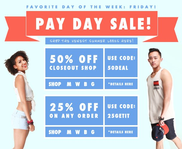 It's Pay Day Sale!