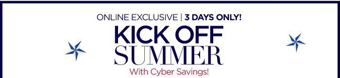 Kick Off Summer with Cyber Savings!