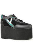 Y.R.U The Qozmo Shoe in Black Multi
