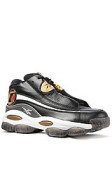 Reebok The Answer DMX 10 Sneaker in Black, White, Metallic Gold, & Red