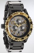Nixon The 42-20 Chrono Watch in Gun n' Gold