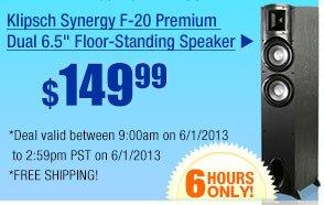 "$149 -- Klipsch Synergy F-20 Premium Dual 6.5"" Floor-Standing Speaker"