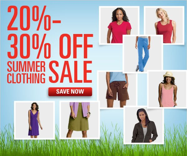 20-30% off Summer Clothing Sale