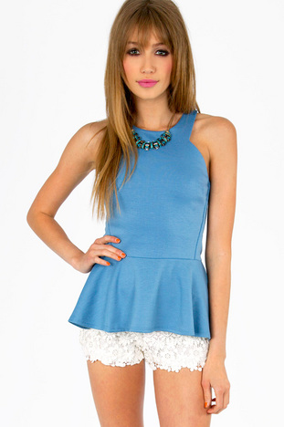 ANGLE CUT PEPLUM TOP 22