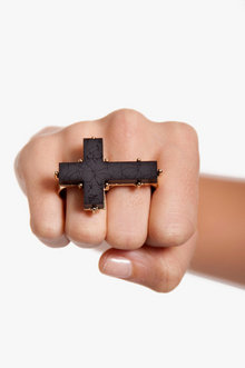VINTAGE CROSS RING 6