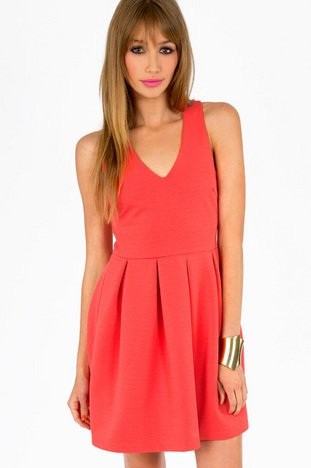 ISABELLE V- NECK SKATER DRESS  40