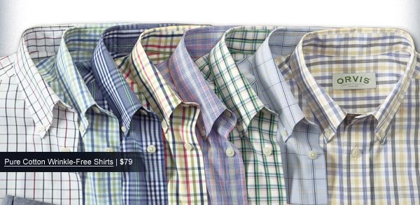 Pure Cotton Wrinkle-Free Shirts | $79