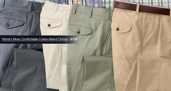 World's Most Comfortable Cotton-Blend Chinos | $119